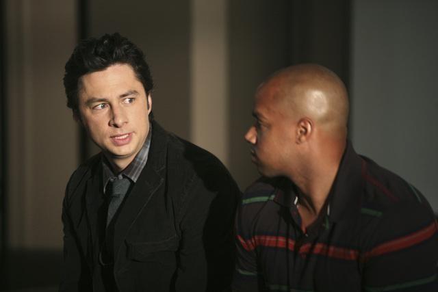 Scrubs: Donald Faison e Zach Braff nell'episodio Our Role Models