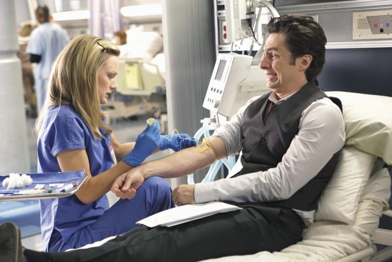 Scrubs: Zach Braff e Kerry Bishè nell'episodio Our Mysteries