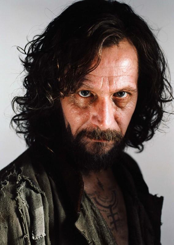 Sirius Black (Gary Oldman) in un'immagine promo in primo piano per Harry Potter e il Prigioniero di Azkaban