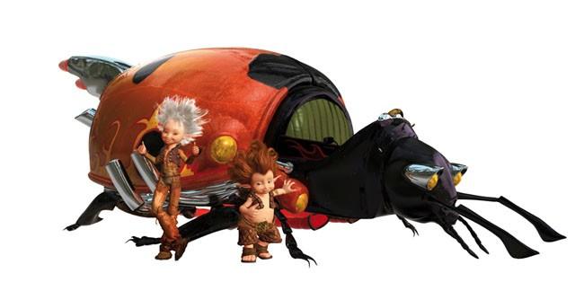 Un'immagine di Arthur insieme al principe Betameche e uno dei bizzarri personaggi del film Arthur e la vendetta di Maltazard