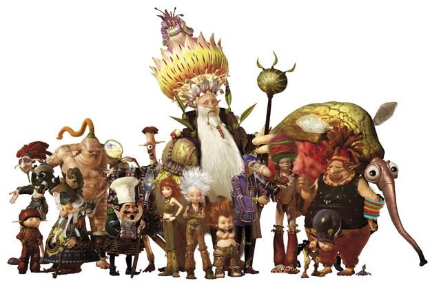 Un'immagine di gruppo dei personaggi del film Arthur e la vendetta di Maltazard