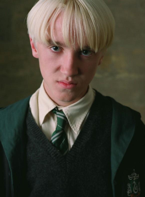 Una foto promozionale del film Harry Potter e il prigioniero di Azkaban con Draco Malfoy (Tom Felton)