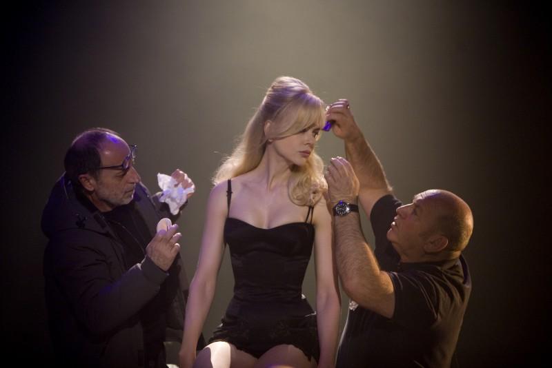 Nicole Kidman sul set del film Nine