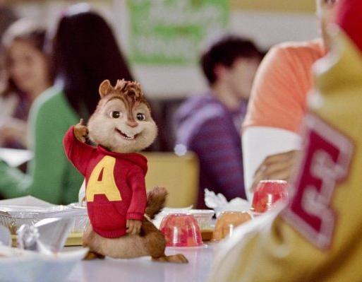 Alvin in un'immagine tratta dal film Alvin Superstar 2