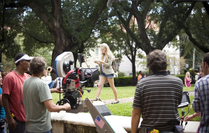 Amanda Seyfried durante le riprese del film Dear John