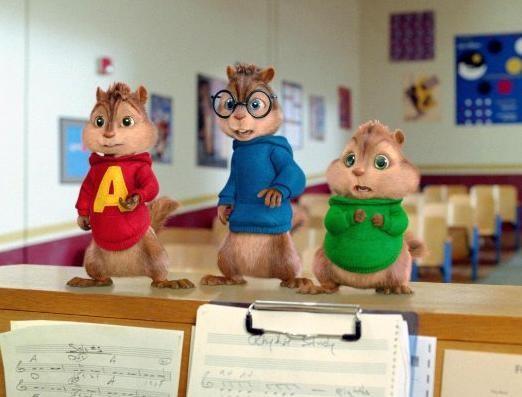 I Chipmunk in una scena del film Alvin Superstar 2