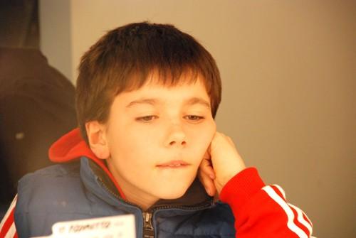 il piccolo Luca Caggiano uno dei protagonisti del film Quando si diventa grandi