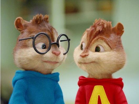 Theodore e Alvin in una scena di Alvin Superstar 2