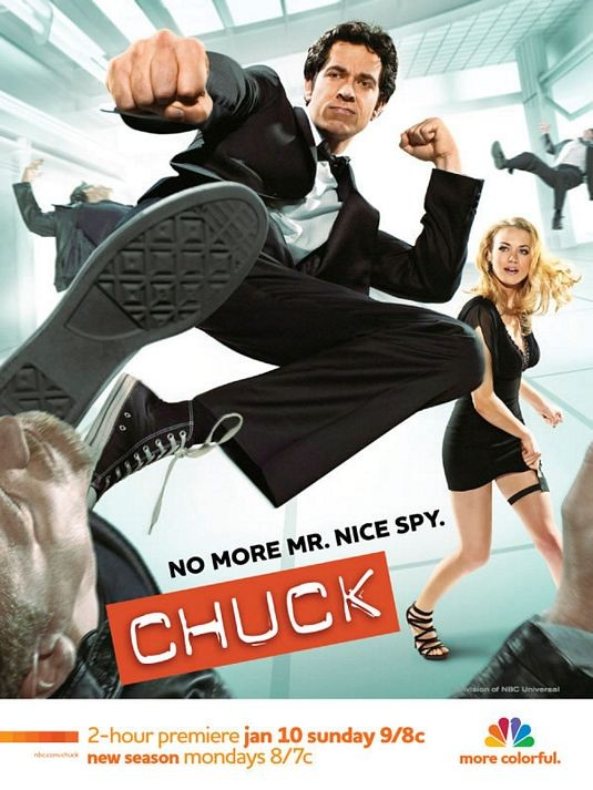 Un poster della stagione 3 di Chuck