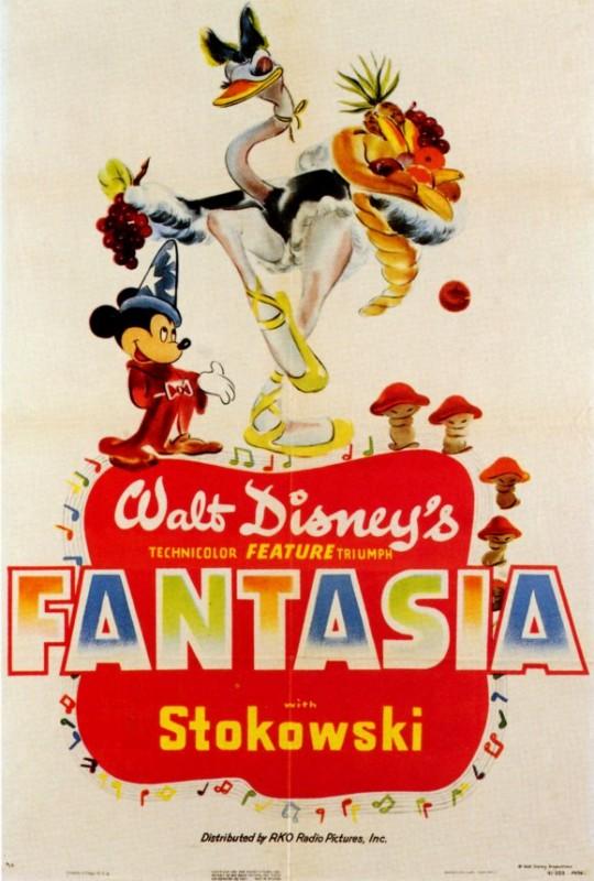 Una bella locandina del film d\'animazione Fantasia (1940)