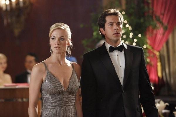Chuck: Yvonne Strahovski e Zachary Levi in un momento dell'episodio Chuck Vs. The Angel de la Muerte