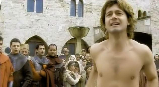 Ettore Bassi in una scena di Chiara e Francesco