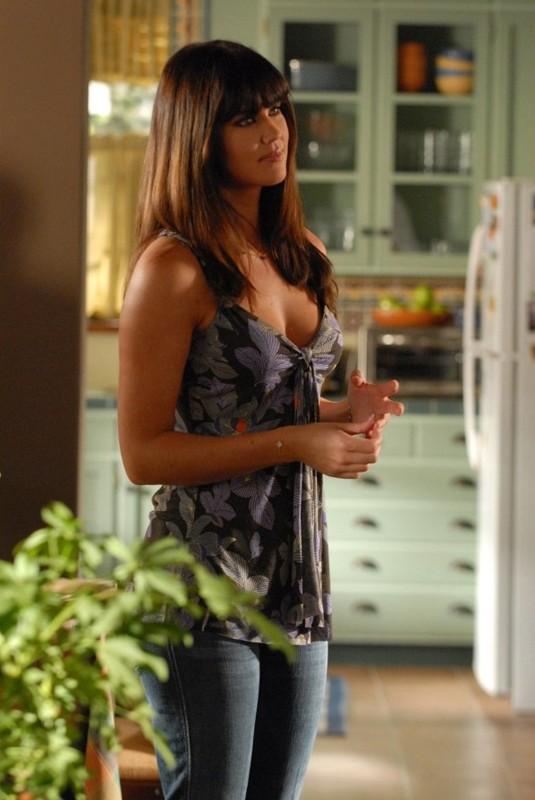 La bellissima Sarah Lancaster (Ellie Bartowski) in una scena dell'episodio Chuck vs. L'elicottero di Chuck
