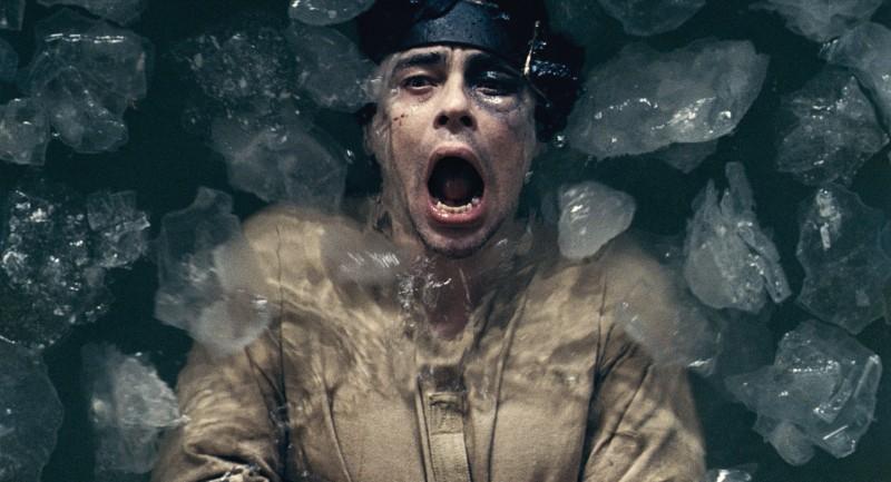 Benicio Del Toro, protagonista del film The Wolf Man