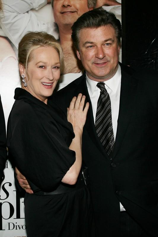 Meryl Streep e Alec Baldwin alla presentazione del film E' complicato