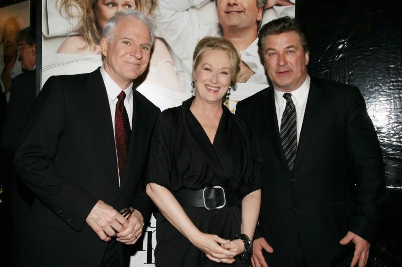 Meryl Streep tra Alec Baldwin e Steve Martin alla presentazione del film E' complicato