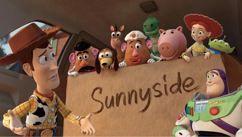 Un'immagine dei simpatici protagonisti del film Toy Story 3