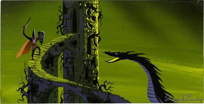 Layout della battaglia finale del film d\'animazione La bella addormentata nel bosco