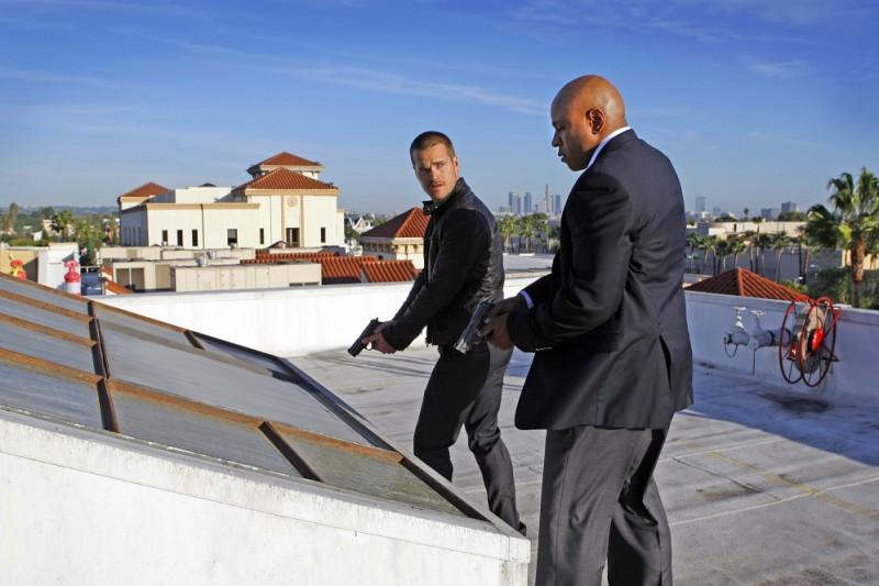 Una scena dell'episodio Random On Purpose con Chris O'Donnell e LL Cool J