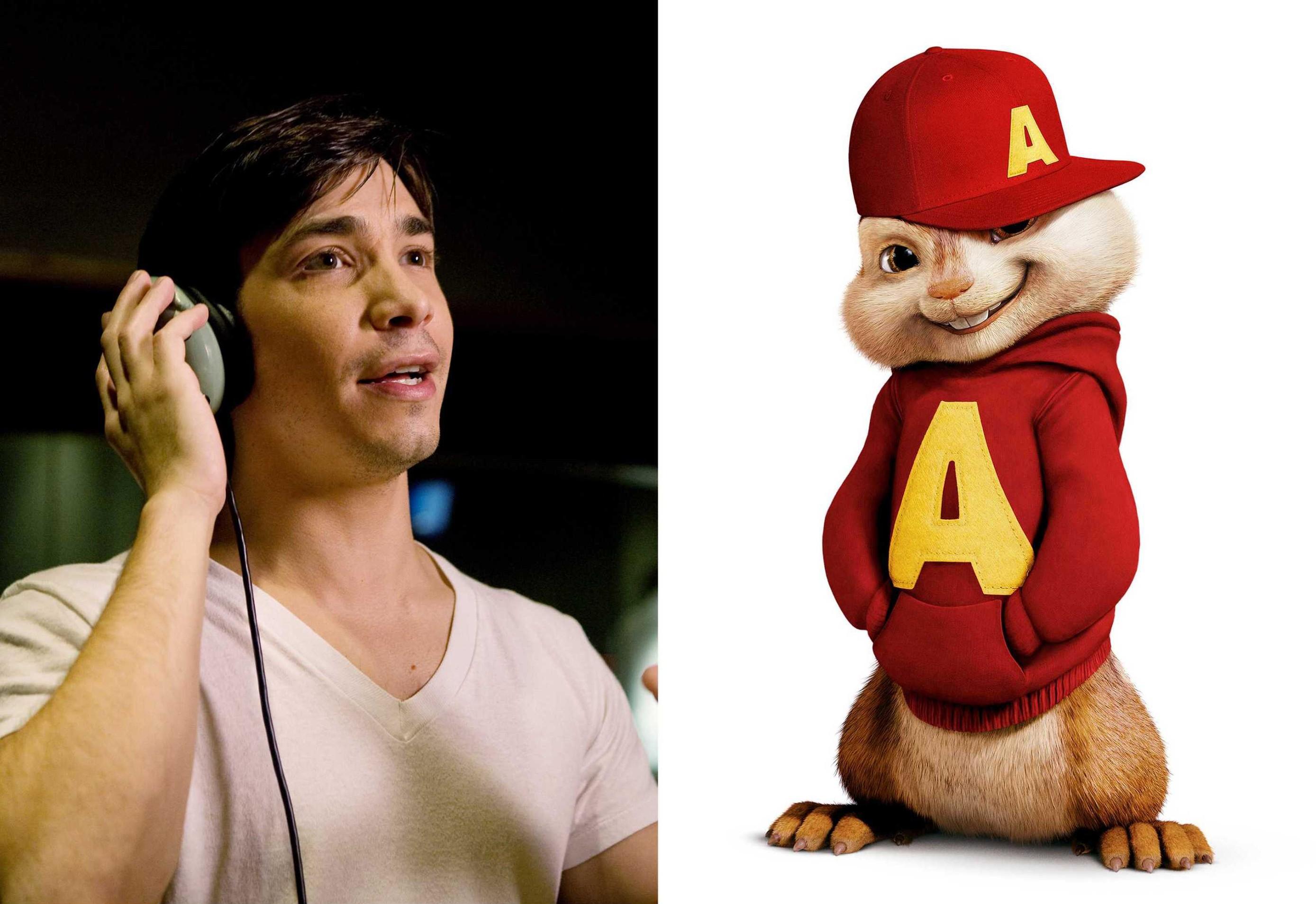 Wallpaper: Justin Long e il suo personaggio Alvin del film Alvin Superstar 2