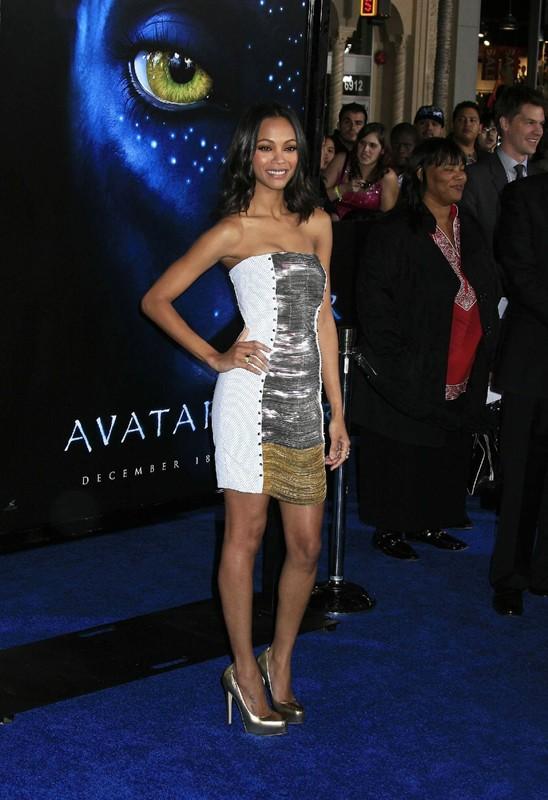 Zoe Saldana alla premiere del film Avatar, a Los Angeles, il 16 Dicembre 2009