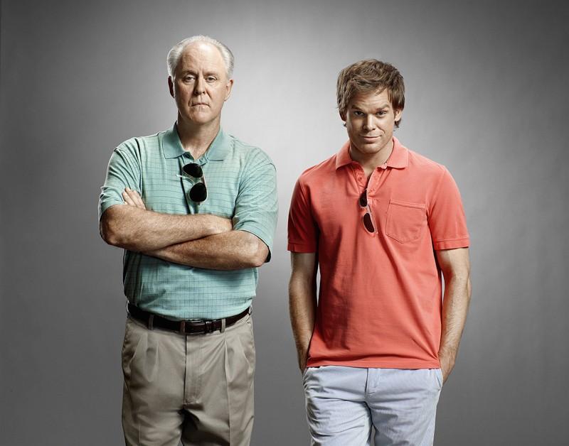 John Lithgow e Michael C. Hall per un'immagine promo di Dexter