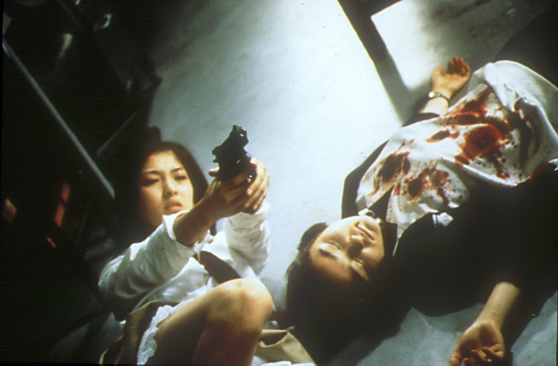 Una scena del film Battle Royale