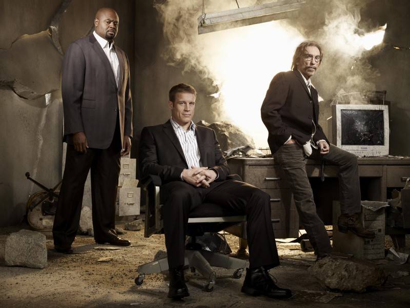 Human Target: Jackie Earle Haley, Chi McBride e Mark Valley in una foto promozionale
