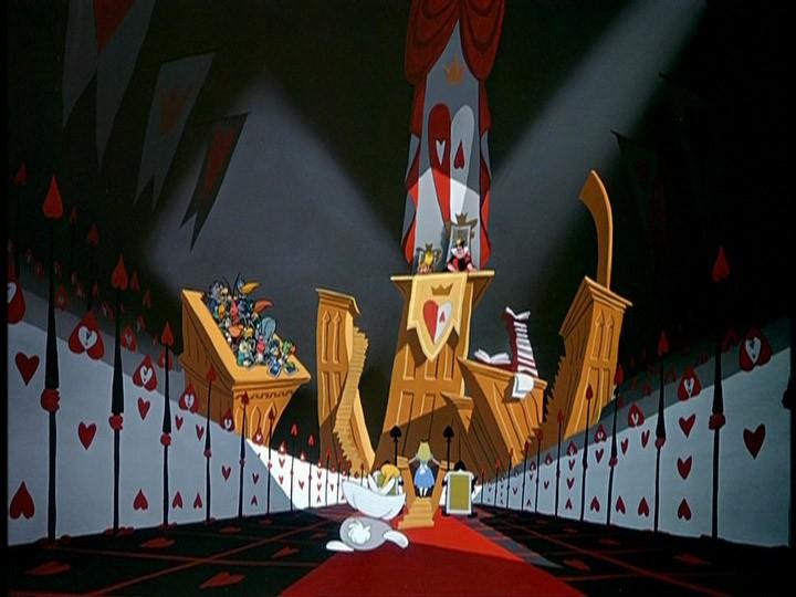 La protagonista processata in una scena del film d\'animazione Alice nel paese delle meraviglie