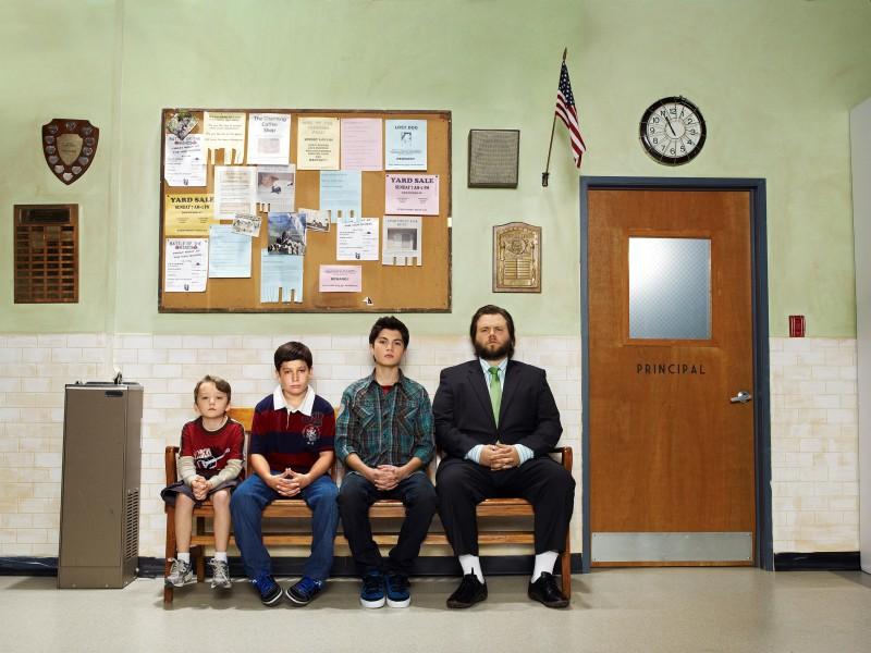 Una foto promozionale del cast della serie Sons of Tucson