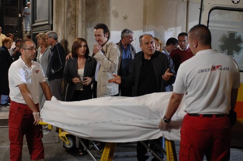 Carlo Verdone, Anna Bonaiuto e Marco Giallini in una sequenza del film Io, loro e Lara