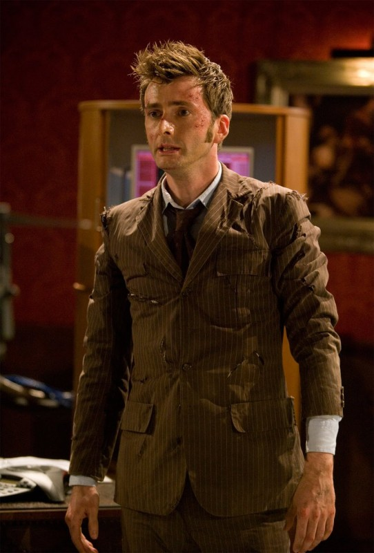 Doctor Who: David Tennant in una scena della seconda parte dello specialeThe End of Time