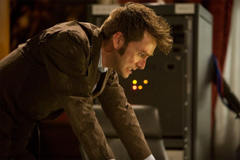 Doctor Who: David Tennant in una scena di The End of Time: Part Two