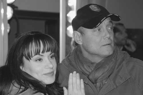 Crisula Stafida e Massimo Bonetti sul set di Quando si diventa grandi