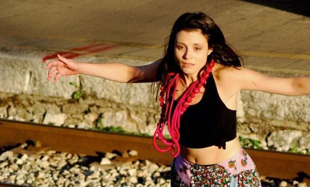 Valentina Acca sul set del film Esterno Sera