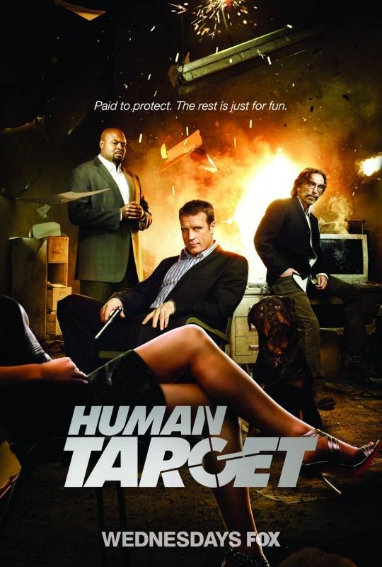 Un poster della nuova serie Human Target