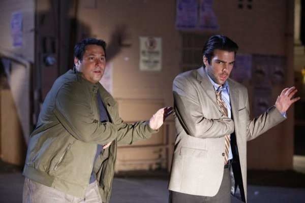 Greg Grunberg e  Zachary Quinto in una scena di Shadowboxing dalla quarta stagione di Heroes
