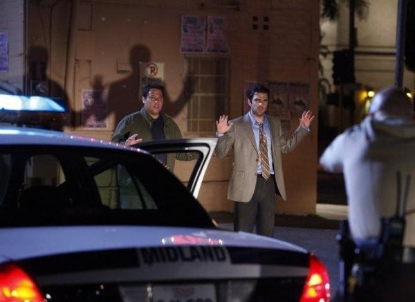 Greg Grunberg e  Zachary Quinto in una scena tratta da Shadowboxing dalla quarta stagione di Heroes