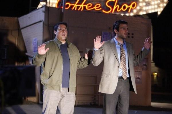 Greg Grunberg e  Zachary Quinto in una scena tratta da Shadowboxing, quarta stagione di Heroes