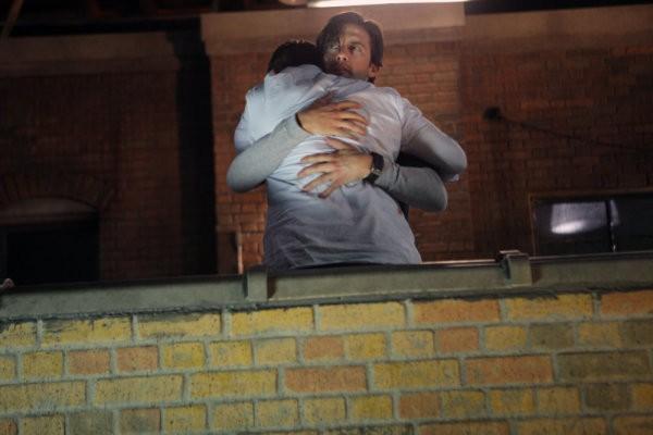 Milo Ventimiglia e Adrian Pasdar in una scena tratta da The Fifth Stage dalla quarta stagione di Heroes