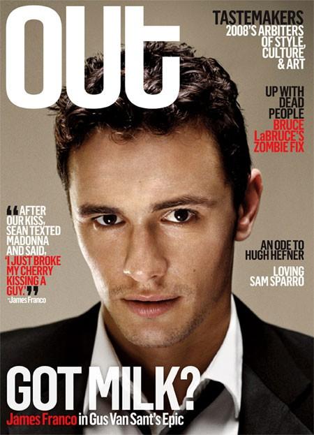 Una ironica copertina di un magazine gay su James Franco e il suo ruolo in Milk