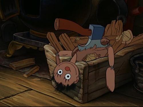 Una scena del film d\'animazione Pinocchio del 1940