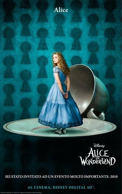 Character Poster Italiano \'Alice\' - Alice In Wonderland