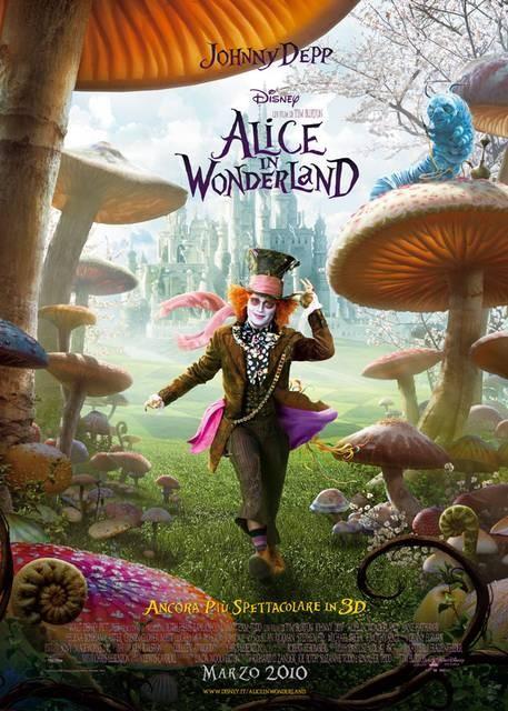 Poster Italiano di Alice In Wonderland con Il Cappellaio Matto