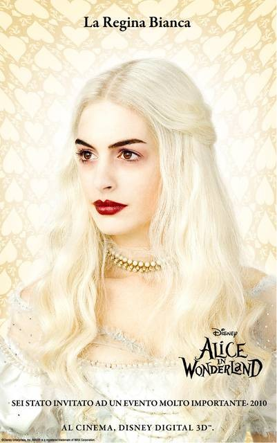 Character Poster Italiano \'La Regina Bianca\' - Alice In Wonderland