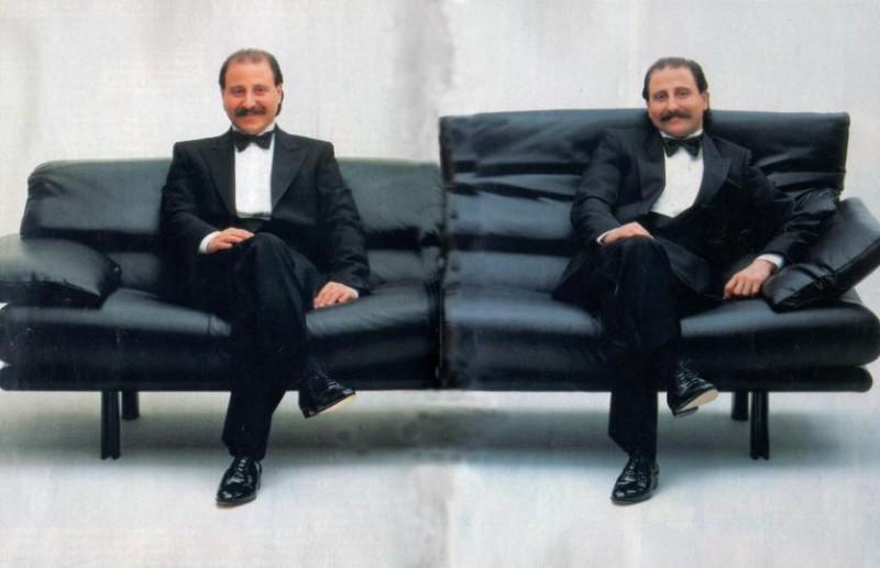 Luigi e Mario Gravier in una immagine promozionale.