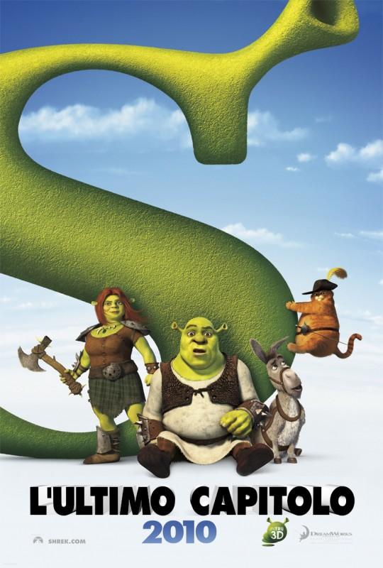 Teaser poster italiano per Shrek e vissero felici e contenti
