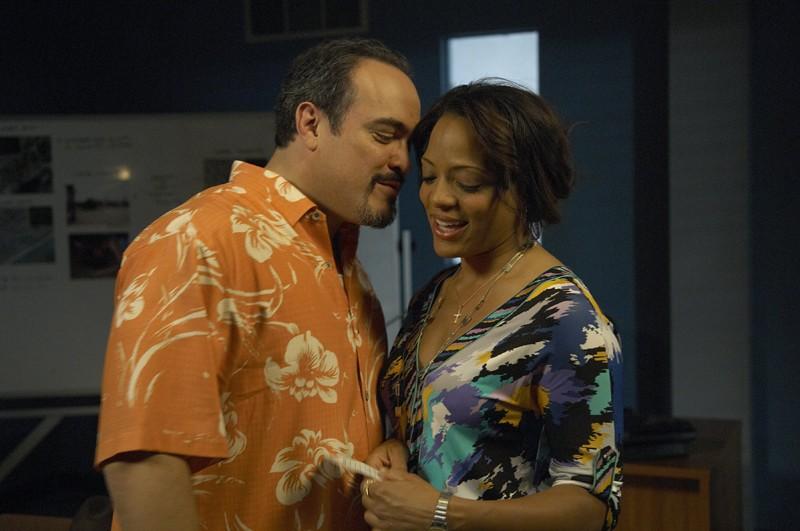 Il Sergente Batista (David Zayas) e il Tenente Laguerta (Lauren Vélez) nell'episodio Road Kill