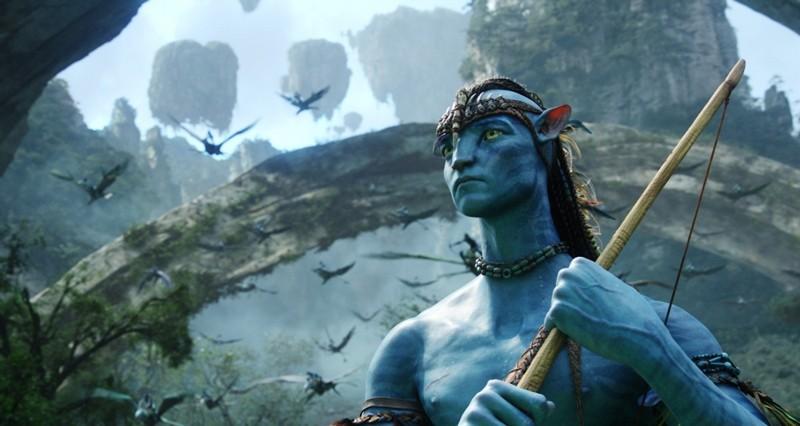 Un'immagine dell'avatar di Jake Sully su Pandora nel film Avatar