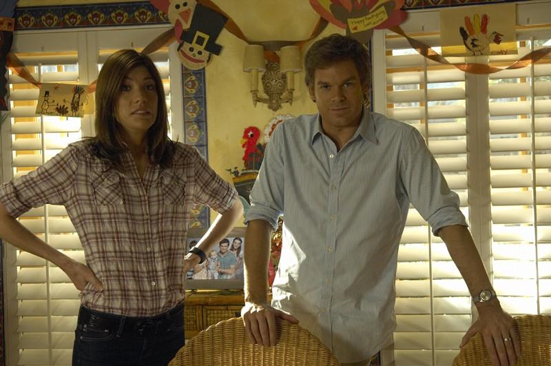 Dexter: Michael C. Hall e Jennifer Carpenter nell'episodio Hungry Man